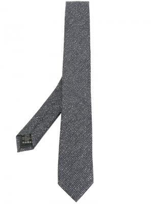 Тканый галстук Z Zegna. Цвет: серый