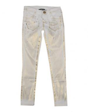 Джинсовые брюки PAESAGGino. Цвет: слоновая кость