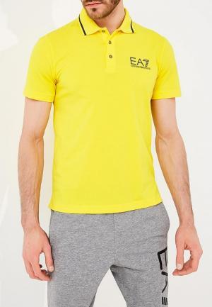 Поло EA7. Цвет: желтый
