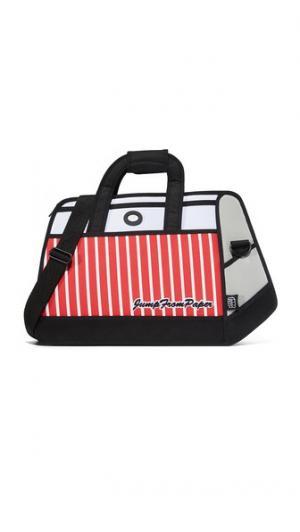 Дорожная сумка в полоску JumpFromPaper