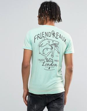 Friend or Faux Футболка. Цвет: зеленый