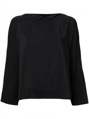 Блузка с зазубренной горловиной Daniela Gregis. Цвет: чёрный