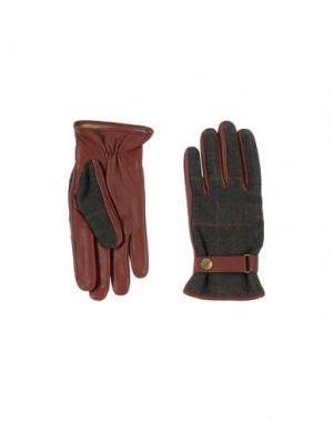 Перчатки DENTS. Цвет: зеленый-милитари