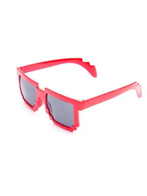 Пиксельные очки MASKBRO. Цвет: красный