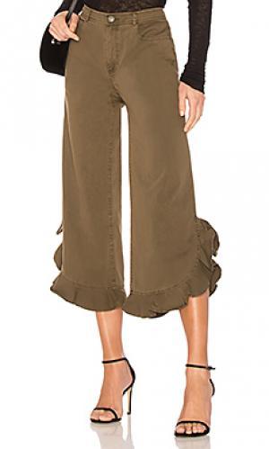 Широкие брюки spencer Cinq a Sept. Цвет: оливковый