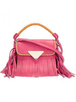 Сумка Amber mini Sara Battaglia. Цвет: розовый и фиолетовый