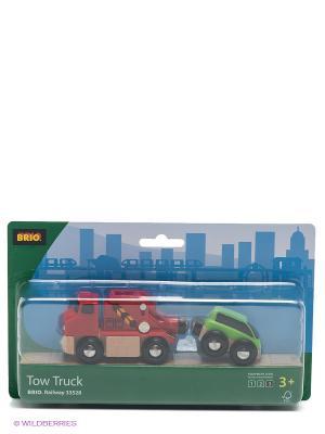 Машинка-буксир с машинкой BRIO. Цвет: зеленый, красный