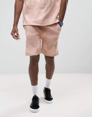 ASOS Трикотажные шорты с розовым камуфляжным принтом. Цвет: розовый