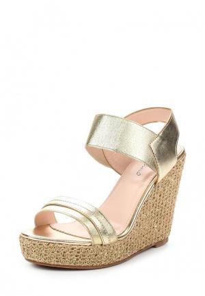 Босоножки Sweet Shoes. Цвет: золотой
