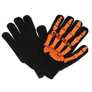 Перчатки сноубордические  Skull Black/Orange Grenade. Цвет: оранжевый,черный