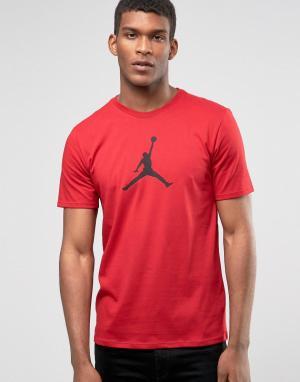 Jordan Красная футболка Nike 801051-687. Цвет: красный
