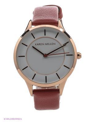 Часы KAREN MILLEN. Цвет: коралловый