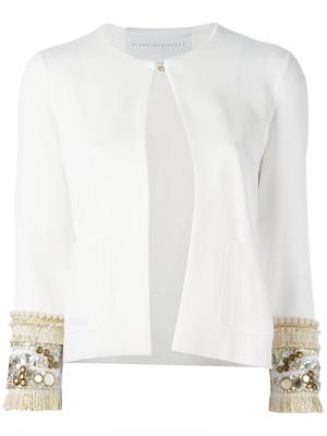 Embellished cuff blazer Giada Benincasa. Цвет: белый