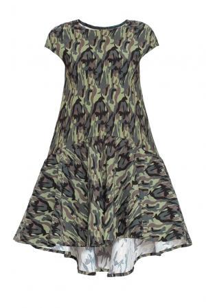 Платье из хлопка 161183 Anna Dubovitskaya. Цвет: разноцветный
