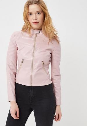 Куртка кожаная Love Republic. Цвет: розовый