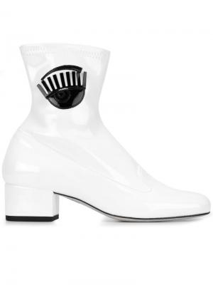 Ботинки Flirting Chiara Ferragni. Цвет: белый