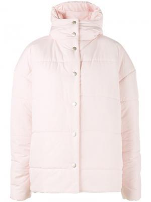 Дутая куртка с капюшоном A.W.A.K.E.. Цвет: розовый и фиолетовый