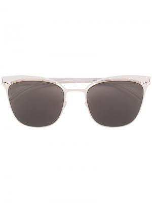 Солнцезащитные очки в оправе кошачий глаз Mykita. Цвет: белый