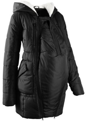 Мода для беременных: куртка с подкладкой и карманом-вкладкой малыша (черный) bonprix. Цвет: черный