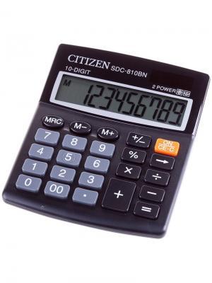 Калькулятор карманный LC-110NBL 8 разрядов, питание от батарейки, 58*87*12 мм, голубой CITIZEN. Цвет: голубой