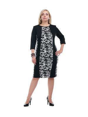 Платье OLSI. Цвет: черный, белый
