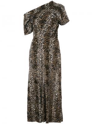 Асимметричное платье миди Rachel Comey. Цвет: коричневый