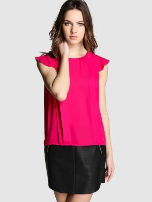 Блузка EASY WEAR. Цвет: малиновый
