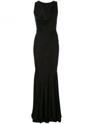 Платье с глубоким вырезом Alexandre Vauthier. Цвет: чёрный