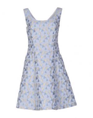 Короткое платье FABRIZIO LENZI. Цвет: небесно-голубой