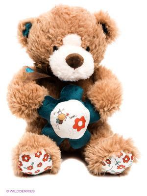 Медведь с сердцем PLUSH APPLE. Цвет: бежевый