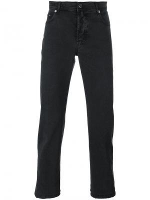 Узкие брюки Kiton. Цвет: серый