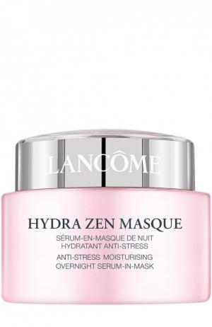 Успокаивающая и увлажняющая ночная маска-сыворотка Hydra Zen Lancome. Цвет: бесцветный