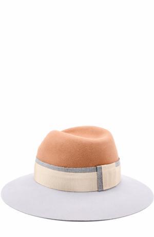 Фетровая шляпа Virginie с лентой Maison Michel. Цвет: бежевый