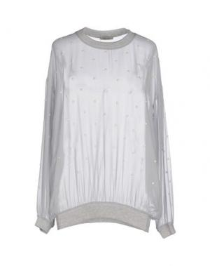 Блузка EMMA COOK. Цвет: светло-серый