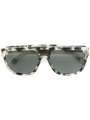 Солнцезащитные очки в квадратной оправе Wesc. Цвет: серый