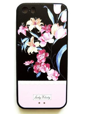Чехол на Iphone 5/5s Punta. Цвет: черный, розовый