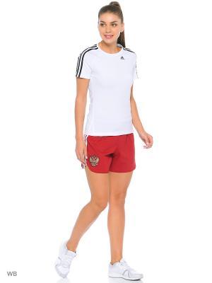 Шорты Adidas. Цвет: красный