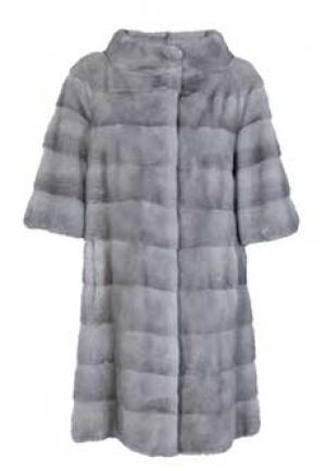 Пальто меховое норка BELLINI. Цвет: серый