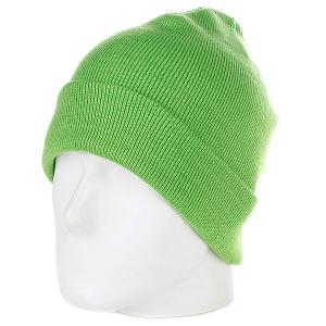 Шапка  Flap Beanie Lime Green Urban Classics. Цвет: зеленый