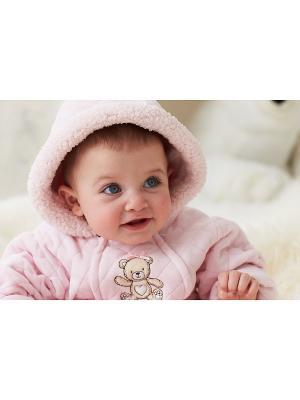 Конверт утепленный на молнии Медвежонок Little Me. Цвет: розовый