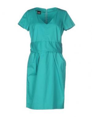 Короткое платье PF PAOLA FRANI. Цвет: зеленый