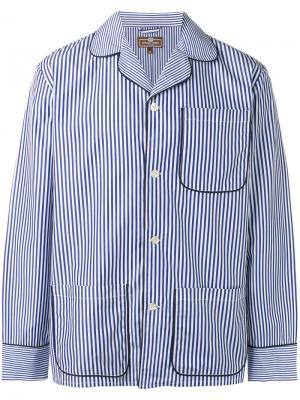 Полосатая пижама Otis Batterbee. Цвет: белый