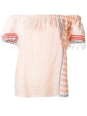 Блузка в полоску Lemlem. Цвет: розовый и фиолетовый