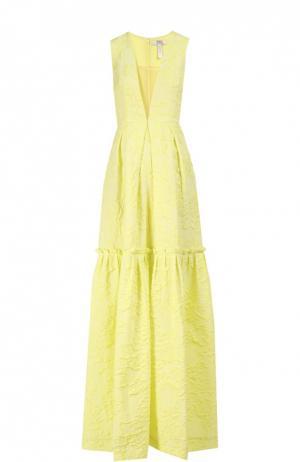 Вечернее платье Erdem. Цвет: желтый