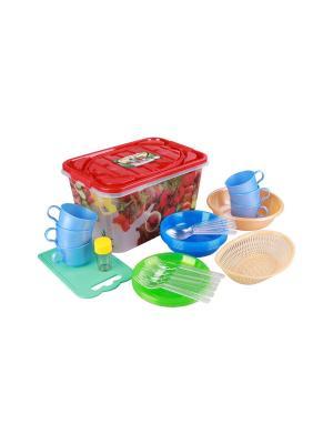 Набор для пикника Гурман 15л. (6 персон) Альтернатива. Цвет: бирюзовый, голубой, красный, синий, зеленый