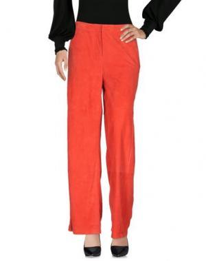 Повседневные брюки DESA COLLECTION. Цвет: красный
