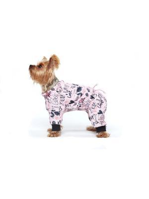 Дождевик для собак Ай Да Пес. Цвет: розовый