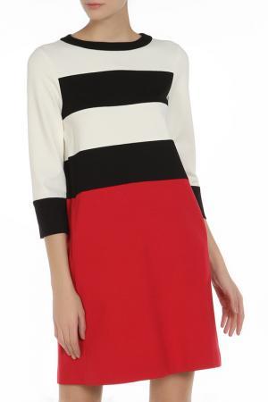 Платье Liviana Conti. Цвет: бело-черно-красный