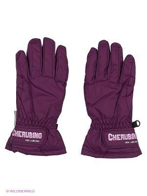 Перчатки детские Cherubino. Цвет: фиолетовый