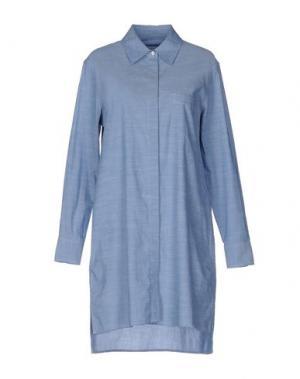 Короткое платье EQUIPMENT FEMME. Цвет: небесно-голубой